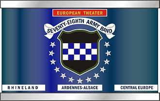 78th Army Band - Snare drum design, including recognition of campaign participation