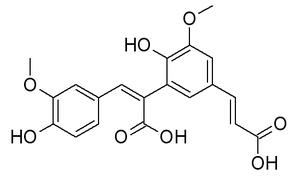 8,5'-Diferulic acid - Image: 8,5' Di FA