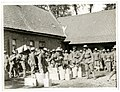 9th Gurkhas drawing rations at a French farm house St Floris, France (Photo 24-56).jpg