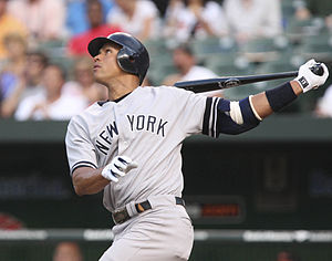 Baseball in the United States - Alex Rodriguez batting in 2007
