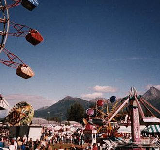 Matanuska-Susitna Borough, Alaska - The midway area of the Alaska State Fair, held annually in Palmer during late August and early September.