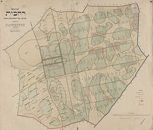 Rehovot - Map of Rehovot in 1897