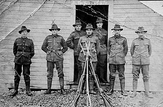 Otago Infantry Regiment (NZEF) - The Otago Infantry Regiment suffered a higher proportion of casualties than any other military unit at Passchendaele. These are the survivors of Walter Parker's company on 20 October 1917.