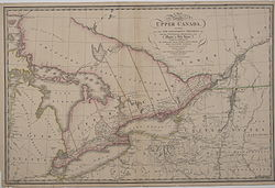 Map of Upper Canada Identifying its districts, counties and townships (1818)