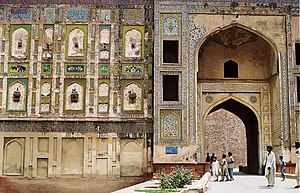 Lahore Fort - The fort's massive Picture Wall dates from the Jahangir period.