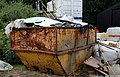 A rusty skip at Hatfield Broad Oak Essex England.JPG