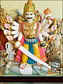 A statue of Veerabhadra at ' ' ' Veerabhadra devasthan-vadhav' ' ',Tal-pen,Dis-raigad,Maharashtra.jpg