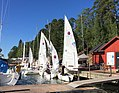 A wednesday evening race with 606 boats is about to begin at ÅSS, Mariehamn, Åland. (28051030183).jpg