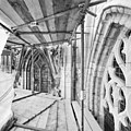 Aanzicht gedeelte vensters aan zuidzijde kooromgang, vanaf steiger - Breda - 20361668 - RCE.jpg
