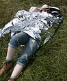 Abi in a space blanket (4746073335).jpg