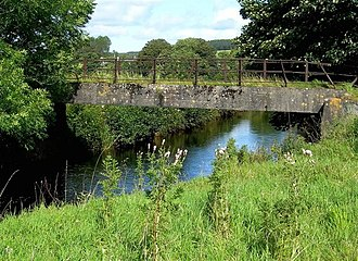 """Water of Girvan - This bridge takes a vehicle track across the Water of Girvan, and is part of the Straiton Paths' """"Village Ramble"""""""