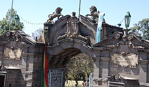 Addis Ababa University - Front entrance to Addis Ababa University.