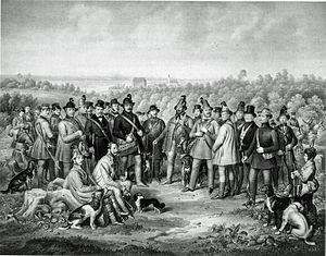 Achstetten - Hunting party with Karl Viktor Cäsar Reuttner von Weyl (sitting, left)