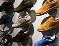 Adidas sneakers display - several left shoes.jpg
