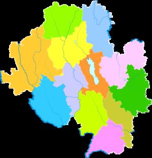 Dali Bai Autonomous Prefecture - Image: Administrative Division Dali