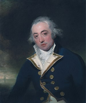 Action of 18 June 1799 - Captain John Markham who led the British forces from HMS Centaur.