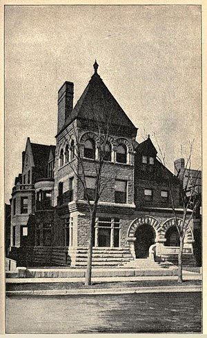 Adolphus C. Bartlett - The Adolphus Clay Bartlett home.  2720 Prairie Avenue, Chicago, Illinois
