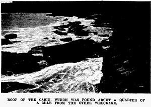 Advance (1874) - Cabin Wreckage of the schooner Advance (1874) ashore in Botany Bay
