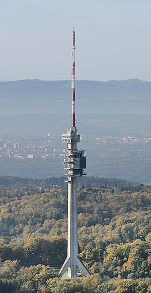 Aerial view of Television Tower St. Chrischona