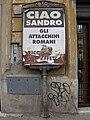 Affissione scritta dagli attacchini romani.JPG