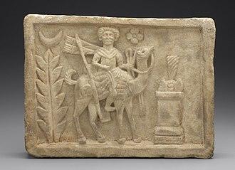 Arsu - Relief showing Arsu, found at Dura Europos