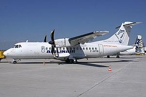 Airlinair - An Airlinair ATR-42-500 at Stuttgart Airport (2006).