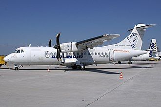 Airlinair - An Airlinair ATR 42-500 at Stuttgart Airport (2006).