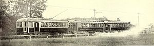 Akron, Bedford and Cleveland Railroad - Akron, Bedford and Cleveland Railroad train, 1909