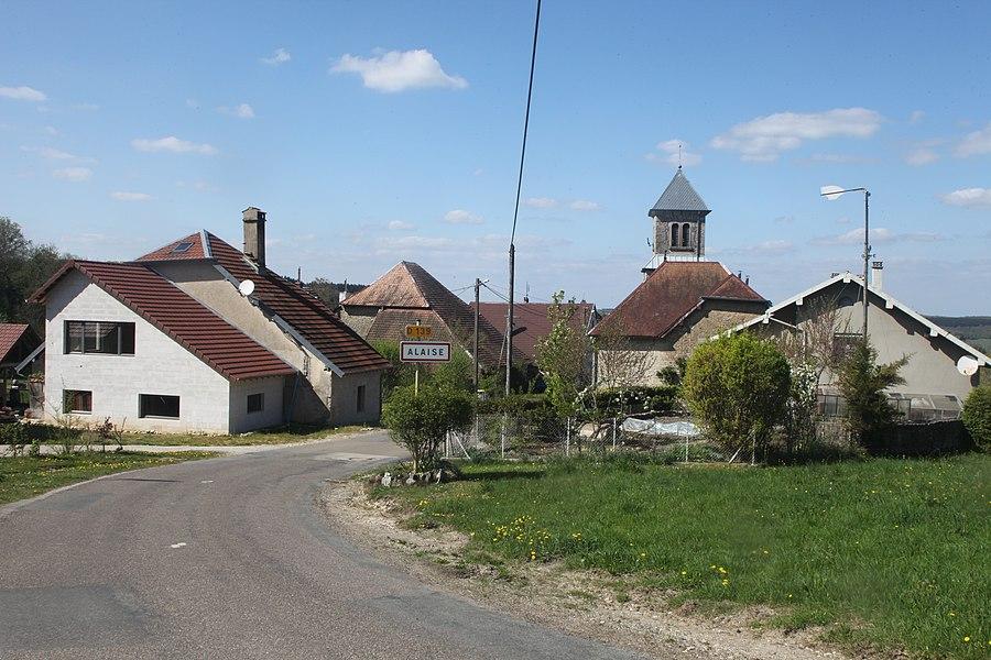 Entrée du village d'Alaise (Doubs).