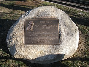 Alan Hovhaness memorial in Whittemore Park, Ar...