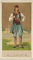 Albania, from the Natives in Costume series (N16), Teofani Issue, for Allen & Ginter Cigarettes Brands MET DP834861.jpg