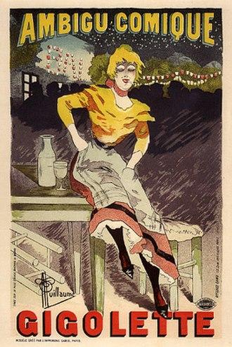 Théâtre de l'Ambigu-Comique - Poster for an 1896 production at the Theâtre