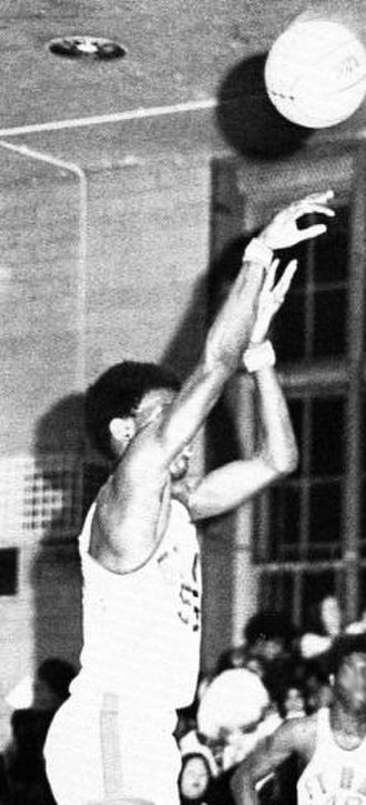 Albert King (basketball) - King playing with the Fort Hamilton High School varsity team in 1974–75