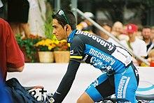 Contador nel 2007 durante un momento del Tour of Missouri