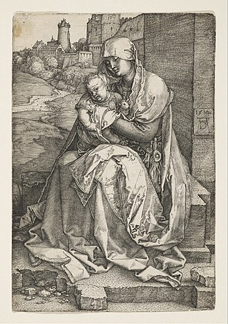 Portrait of the Artist's Mother at the Age of 63 - Image: Albrecht Dürer The Virgin Sitting by a Wall Google Art Project