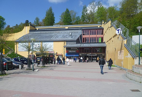 Alby metro station