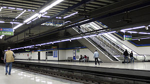 Alcorcón Central (Madrid Metro) - Image: Alcorcon Central metro station