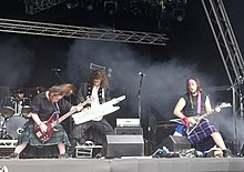 Alestorm performing on the Main Stage at Bloodstock Open Air festival in 2008