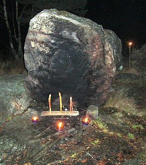 Alfablot at boulder with flash