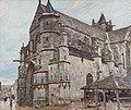 Alfred Sisley, Notre-Dame de Moret im Morgenregen, 1893.jpg