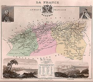 Departments of France - The three Algerian departments in 1848