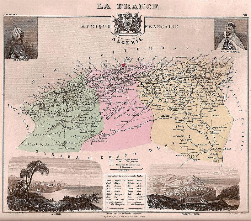Division politique d'Algérie en trois provinces dans Attributs d'Algérienneté 800px-Alg%C3%A9rie_fr