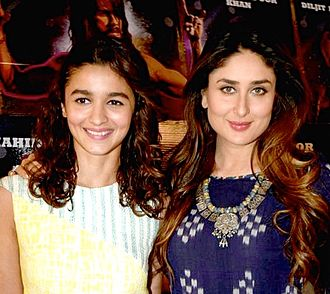Udta Punjab - Alia Bhatt and Kareena Kapoor at a promotional event for the film in 2016.