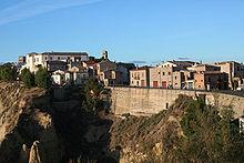 Scorcio panoramico del comune di Aliano, dove Carlo Levi trascorse il suo periodo di confino