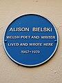 Alison Bielski Welsh poet and writer lived here 1967-1970.jpg