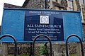 All Saints Church sign and notice board, Kingston Road - geograph.org.uk - 2029782.jpg
