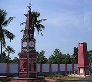 A communist 'martyrs column' in Alappuzha, India