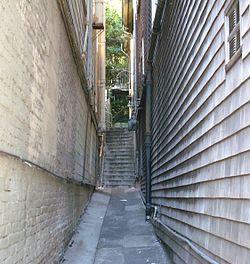 Alley In Sausalito, California