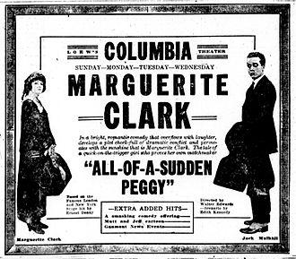 All of a Sudden Peggy - Newspaper advertisement.