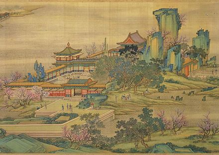 "A scene of the ""Qing Palace version"" of the Along the River During the Qingming Festival, an 18th-century remake of the 12th century original Along the River 7-119-3 portion.jpg"